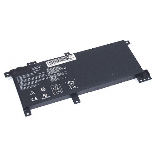 Аккумулятор для Asus X456 (C21N1508) 7.6V 38Wh REPLACEMENT черная