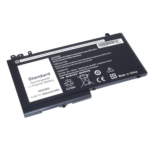 Аккумулятор для Dell Latitude 12-E5270 11.4V 3000mAh черная REPLACEMENT