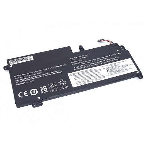 Аккумулятор для Lenovo ThinkPad S2 13 (01AV400-3S1P) 11.4V 42Wh REPLACEMENT черная