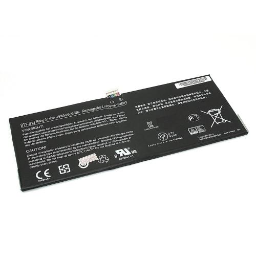 Аккумулятор для MSI W20 3M-013US (BTY-S1J) 3.7V 9000mAh черная
