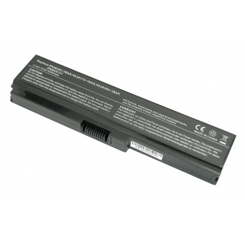 Аккумулятор для Toshiba Satellite L750 (PA3634U-1BAS) 5200mAh REPLACEMENT черная