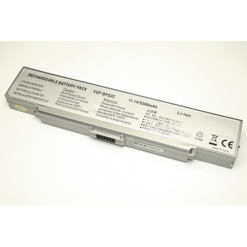 Аккумулятор для Sony Vaio VGN-FE VGN-FS (VGP-BPS2) 11.1V 5200mAh REPLACEMENT серебристая