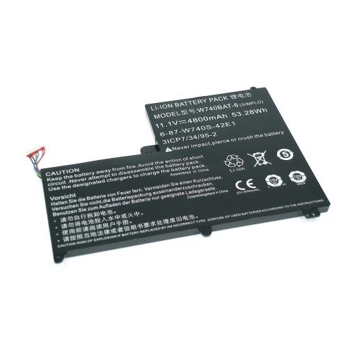 Аккумулятор для DNS Clevo W740 11.1V 4800mAh W740BAT-6