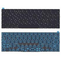 Клавиатура для ноутбука MacBook Pro 13 15 Retina A1706 черная с подсветкой большой Enter