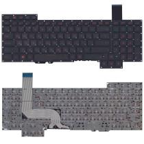 Клавиатура для ноутбука Asus G751 черная с подсветкой