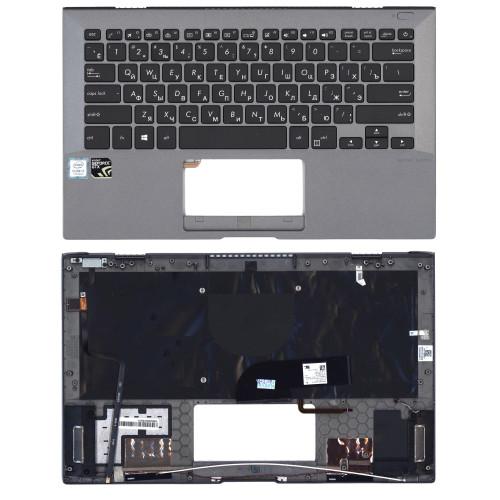 Клавиатура для ноутбука Asus Pro B9440U черная топ-панель