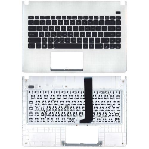 Клавиатура для ноутбука Asus X401U белая топ-панель