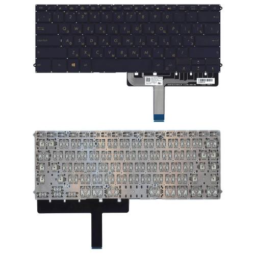 Клавиатура для ноутбука Asus ZenBook 3 Deluxe UX490UA черная с подсветкой