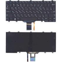 Клавиатура для ноутбука Dell E5250 E7250 черная с подсветкой