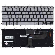 Клавиатура для ноутбука Dell Inspiron 14 7437 серебристая с подсветкой