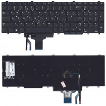 Клавиатура для ноутбука Dell Latitude E5550 E5570 черная без рамки без подсветки