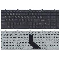 Клавиатура для ноутбука DNS 0170720 Clevo W350 w370 черная (плоский ENTER)