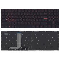 Клавиатура для ноутбука Lenovo Legion Y520 Y520-15IKB черная без рамки, красная подсветка