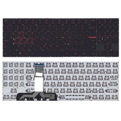 Клавиатура для ноутбука Lenovo Legion Y520 Y520-15IKB черная без рамки