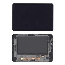 Модуль (матрица + тачскрин) для Samsung Galaxy Tab 7.7 P6800 черный с рамкой