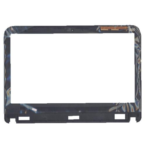 Сенсорное стекло (тачскрин) для Dell Inspiron 14R-3421 черное с рамкой